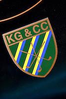 ZANDVOORT - Het clubembleem van de Kennemer Golf Club in Zandvoort. COPYRIGHT KOEN SUYK