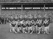 281/3967-3974...16081953AISHCSF...16.08.1953, 08.16.1953, 16th August 1953...All Ireland Senior Hurling Championship - Semi-Final..Galway.3-5.Kilkenny.1-10...Galway Team. ...S. Duggan, C. Corless, W. ONeill, J. Brophy, M. Burke (Captain), J. Molloy, E. Quinn, J. Salmon, W. Duffy, J Duggan, H. Gordon, J. Killeen, M. McInerney, J. Gallagher, P Nolan.Subs: M. J. Flaherty for Nolan; P. Duggan for J. Duggan.M. Burke (Captain). ...........Galway- Winners........................................