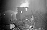 Fire at Johnson Mooney and O'Brien Mills, Dublin.<br /> 03.10.1961