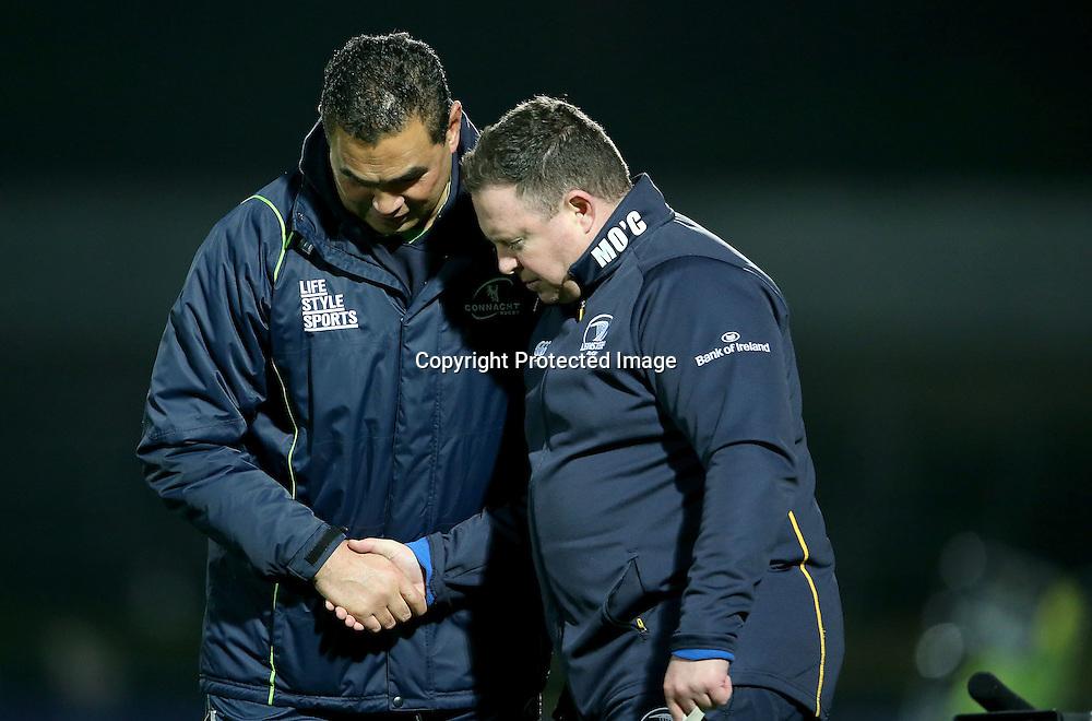 Guinness PRO12, RDS, Dublin 19/12/2014<br /> Leinster vs Connacht<br /> Leinster head coach Matt O'Connor and head coach Pat Lam of Connacht<br /> Mandatory Credit &copy;INPHO/Dan Sheridan