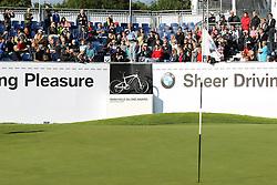23.06.2015, Golfclub München Eichenried, Muenchen, GER, BMW International Golf Open, Show Event, im Bild Fabrizio Zanotti (PAR) schlaegt beim Show Event von der Tribuene ab // during the Show Event of BMW International Golf Open at the Golfclub München Eichenried in Muenchen, Germany on 2015/06/23. EXPA Pictures © 2015, PhotoCredit: EXPA/ Eibner-Pressefoto/ Kolbert<br /> <br /> *****ATTENTION - OUT of GER*****
