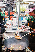 Elvis Suki, Thai-style suki-yaki - fried or soup woon sen noodles with cabbage and green onion in eggy sauce