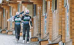 19.01.2020, Hochfirstschanze, Titisee Neustadt, GER, FIS Weltcup Ski Sprung, im Bild Marius Lindvik (NOR), Daniel Andre Tande (NOR) // Marius Lindvik of Norway Daniel Andre Tande of Norway during the FIS Ski Jumping World Cup at the Hochfirstschanze in Titisee Neustadt, Germany on 2020/01/19. EXPA Pictures © 2020, PhotoCredit: EXPA/ JFK