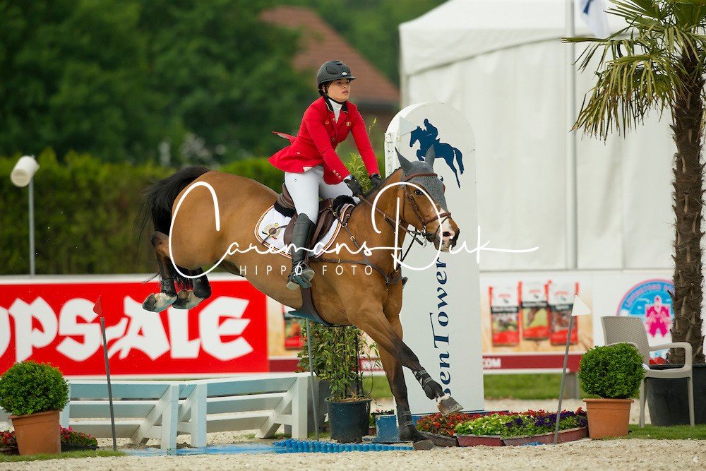 D Have Lynn, (BEL), Caelum Ter Wilgen<br /> Class 16 Nations Cup YR<br /> International Competition CSIO Young Riders Opglabbeek 2016<br /> © Dirk Caremans