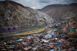 A view of the Doe Run Peru metal processing plant in La Oroya, Peru