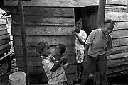 Displaced families in the slums in the port town of Turbo, Antioquia, where many of the displaced Afro-Colombian population have come to live since their exodus from their farms during Operation Genesis, a Colombian Army military offensive backed by right-wing paramiltaries.