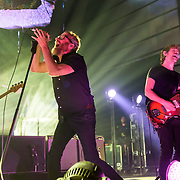 WASHINGTON, DC - December 5th, 2017 - Scott Devendorf, Matt Berninger and Aaron Dessner of The National perform at The Anthem in Washington, D.C.  The band released their  seventh album, Sleep Well Beast, in September. (Photo by Kyle Gustafson / For The Washington Post)