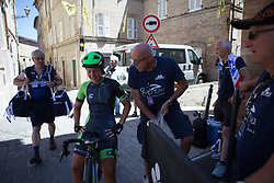 Marta Tagliaferro (ITA) of Cylance Pro Cycling cools down after Stage 5 of the Giro Rosa - a 12.7 km individual time trial, starting and finishing in Sant'Elpido A Mare on July 4, 2017, in Fermo, Italy. (Photo by Balint Hamvas/Velofocus.com)