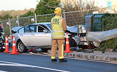 Auckland-One injured after collision with power pole, Orakei