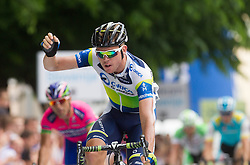 Brett Lancaster (AUS) of Orica-Green Edge celebrates during Stage 4 from Brezice to Novo mesto (155,8 km) of cycling race 20th Tour de Slovenie 2013,  on June 16, 2013 in Slovenia. (Photo By Vid Ponikvar / Sportida)