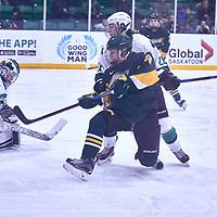 2nd year forward, Ireland South (25) of the Regina Cougars during the Women's Hockey Away Game on Fri Jan 11 at University of Saskatoon. Credit: Arthur Ward/Arthur Images