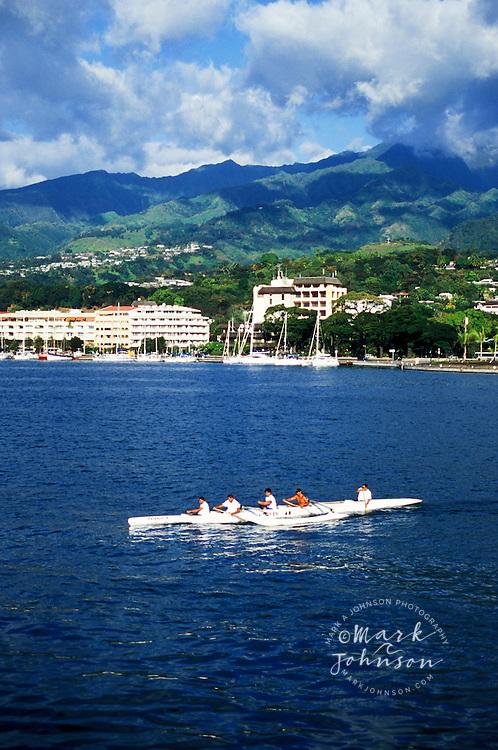Outrigger canoe, Papeete, Tahiti, French Polynesia