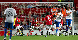 27.09.2011, Old Trafford, London, ENG, UEFA CL, Gruppe C, Manchester United (ENG) vs FC Basel (SUI), im Bild FC Basel 1893's Fabian Frei scores his side's first goal against Manchester United // during the UEFA Champions League game, group C, Manchester United (ENG) vs FC Basel (SUI) at Old Trafford stadium in London, United Kingdom on 2011/09/27. EXPA Pictures © 2011, PhotoCredit: EXPA/ Propaganda Photo/ David Rawcliff +++++ ATTENTION - OUT OF ENGLAND/GBR+++++