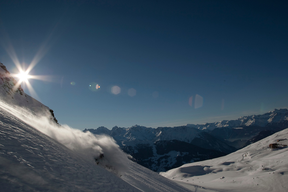 Rider:  J-Y Michellod.Location: Verbier (Switzerland)