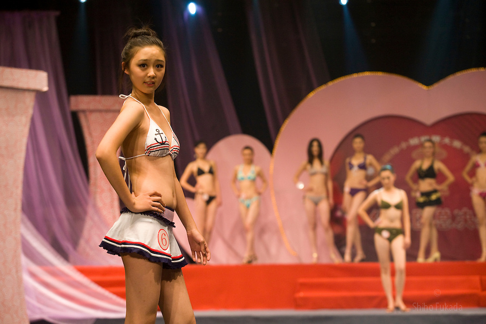 "Pen Wei Fei, 16, participates in ""Miss. International"" beauty contest in Beijing, China, Nov. 7, 2009."