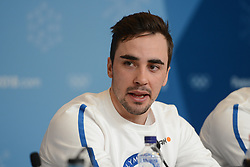 February 8, 2018 - Pyeonchang, Republic of Korea - RISTOMATTI HAKOLA of the Finnish cross country ski team at a press conference prior to the start of the 2018 Olympic Games (Credit Image: © Christopher Levy via ZUMA Wire)