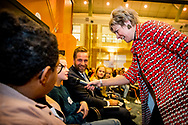 THE HAGUE - Princess Laurentien and Minister Hugo de Jonge of Health, Welfare and Sport during the first dialogue session of the National Council of Children. copyrught robin utrecht