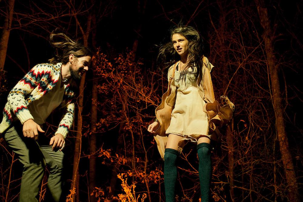 Bowerbirds: Beth Tacular and Phil Moore, North Carolina, November 2011. ..Photo by D.L. Anderson