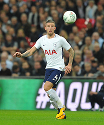 TOBY ALDERWEIRELD  TOTTENHAM HOTSPUR,  Tottenham Hotspur  v West Ham United, EFL  Carabao Cup Fourth Round, Wembley Stadium Wednesday 25th October 2017, Score 2-3 <br /> Photo:Mike Capps