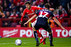 Albie Morgan of Charlton Athletic takes on Matty Blair of Doncaster Rovers - Mandatory by-line: Robbie Stephenson/JMP - 17/05/2019 - FOOTBALL - The Valley - Charlton, London, England - Charlton Athletic v Doncaster Rovers - Sky Bet League One Play-off Semi-Final 2nd Leg