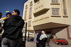 Families enter the Courthouse of New Cairo Personal Status and Family Courts in Cairo, Egypt on March 5, 2008. Recently in the Muslim world, the reputation of Shariah law has undergone an extraordinary revival.