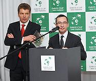 Wroclaw 30/01/2013.Davis Cup .Poland vs Slovenia.Official party.Photo by : Piotr Hawalej