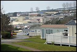 Devon Cliffs Caravan Park in Sandy Bay, Exmouth, Devon,   March, 2013. Photo By Andrew Parsons / i-Images
