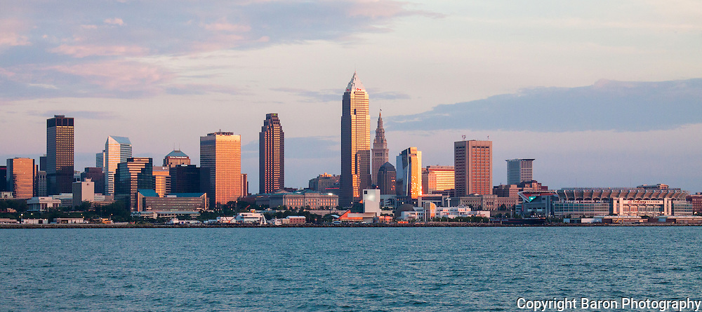 Cleveland skyhline from Lake Erie