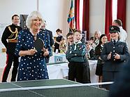 Camilla, Duchess of Cornwall Plays Table Tennis