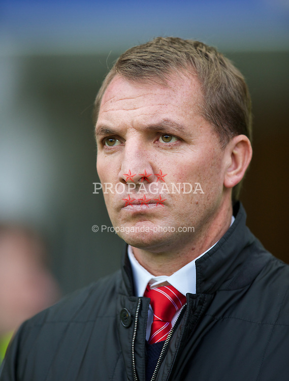 HULL, ENGLAND - Sunday, December 1, 2013: Liverpool's manager Brendan Rodgers before the Premiership match against Hull City at the KC Stadium. (Pic by David Rawcliffe/Propaganda)