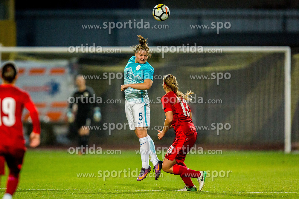 Spela Rozmaric of Slovenia during football match between Slovenia and Czech Republic in Womens Qualifications for World Championship 2019, on October 20, 2017 in Stadion Domzale, Domzale, Slovenia. Photo by Ziga Zupan / Sportida