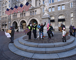 "December 10, 2016 - Washington, DC, USA - People attend rally. Children's Rally for Kindness takes place at Trump International Hotel in Washington DC on December 10, 2016 organized by the Takoma Parents Action Coalition.  According to their FaceBook page, it was a call to President-elect Donald Trump: ''to remember these lessons as he prepares to take office and implement policies that will affect the lives of children and families across our diverse nation.''.''All over the world, across cultures and countries, children learn the same basic lessons: .Ã'be kind,Ã"" .Ã'tell the truth,Ã"" .Ã'be fair,Ã"" .Ã'respect everyone,Ã"" .Ã'treat others the way you want to be treated,Ã"" .Ã'donÃ•t touch others if they donÃ•t want to be touched. (Credit Image: © Carol Guzy via ZUMA Wire)"