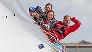 "England, Burnham-on-Crouch. 25th August 2012. Burnham Week. Royal Burnham One Design fleet. ""White Rose"" RBOD1."