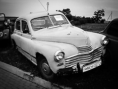 Lithuania vintage cars in Black and White