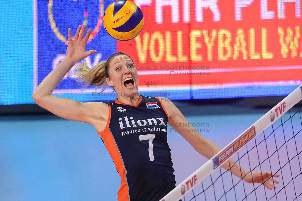 07-01-2016 TUR: European Olympic Qualification Tournament Nederland - Kroatie, Ankara<br /> Nederland moet winnen om als groepshoofd naar de halve finale te gaan / Quinta Steenbergen #7