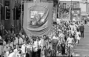 Sharlston Branch banner. 1992 Yorkshire Miners Gala, Barnsley.