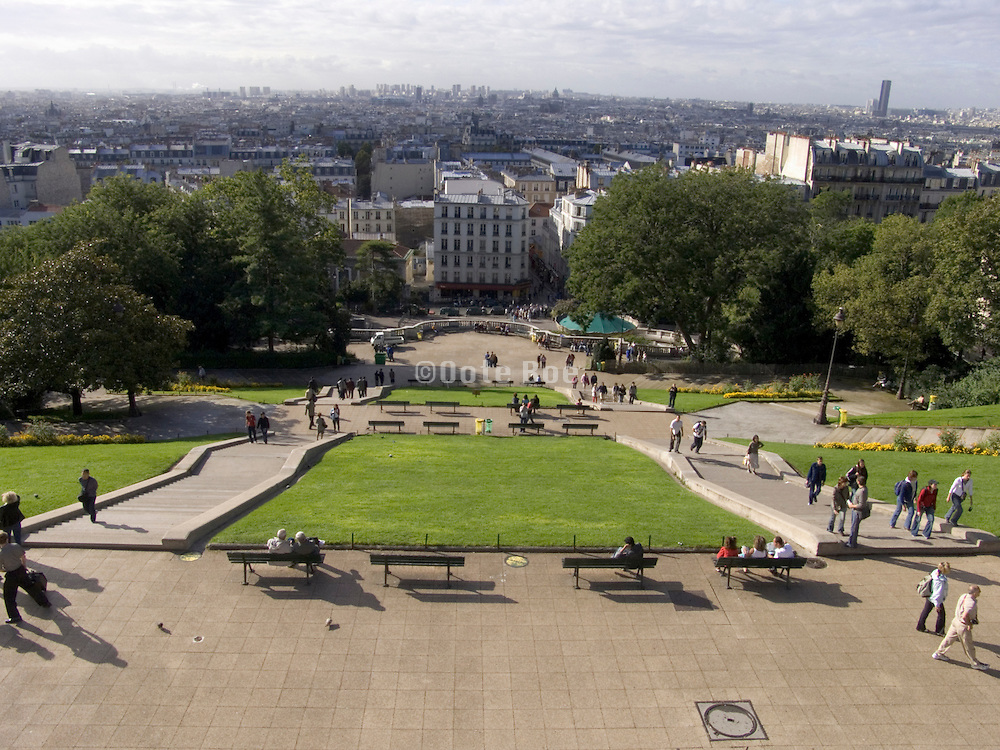 view of Paris and park from Sacre Coeur Paris
