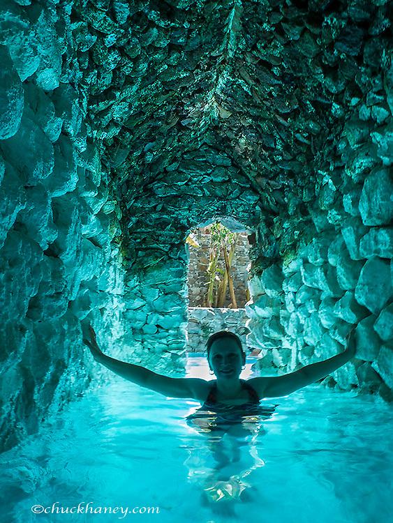 La Gruta Hot Springs near San Migule de Allende, Mexico model released