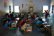 Indian children at Rajyakaiya School  in Narlai village, Rajasthan, Northern India