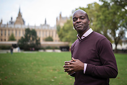© Licensed to London News Pictures. 04/10/2019. London, UK. Conservative candidate for the 2020 London Mayoral election Shaun Bailey in Westminster. Rory Stewart has announced his resignation from the Conservative Party and his intention to stand as an independent candidate for Mayor of London. Photo credit: Rob Pinney/LNP
