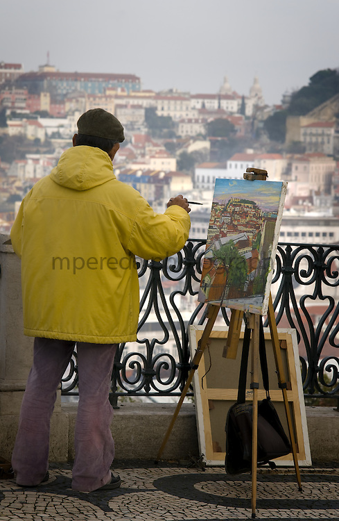 A painter in the viewpoint of Sao Pedro Alcantara