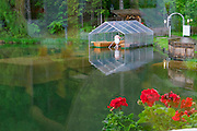 Parkhotel Tristacher See, Tyrol, Austria. Boat house and bathing stair.