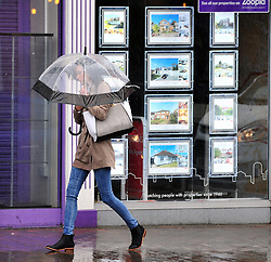 &copy; Licensed to London News Pictures. 6/06/2017<br /> Heavy rain and some flooding this morning in Kent and the South East,UK. Shoppers and commuters get wet in Orpington High Street as the roads start to flood.<br /> Photo credit: Grant Falvey/LNP