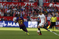 February 23, 2019 - Seville, Madrid, Spain - Maximilian Wober (Sevilla FC) seen in action during the La Liga match between Sevilla FC and Futbol Club Barcelona at Estadio Sanchez Pizjuan in Seville, Spain. (Credit Image: © Manu Reino/SOPA Images via ZUMA Wire)