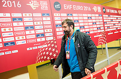 Veselin Vujovic, head coach of Slovenia leaving the arena after the handball match between National teams of Germany and Slovenia on Day 6 in Preliminary Round of Men's EHF EURO 2016, on January 20, 2016 in Centennial Hall, Wroclaw, Poland. Photo by Vid Ponikvar / Sportida