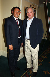 Left to right, former England rugby internationals RORY UNDERWOOD and JEFF PROBYN at the 2005 6 Nations Rugby Charity Dinner in aid of Nordoff-Robbins Music Therapy held at The Inter-Continental Hotel, London W1 on 19th January 2005.<br /><br />NON EXCLUSIVE - WORLD RIGHTS