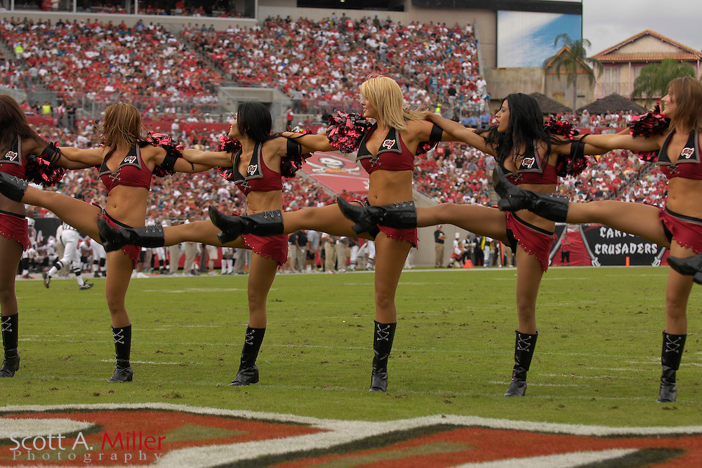 Tampa Bay Buccaneers  cheerleader during the Bucs' game against the Jacksonville Jaguars at Raymond James Stadium on  Oct. 28, 2007 in Tampa, Florida.      ..©2007 Scott A. Miller