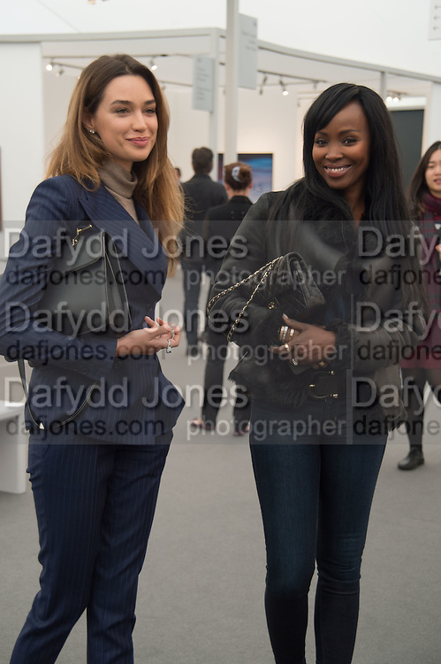 ANASTASIA PAVILKO; YVONNE MORTON, Opening of Frieze Masters, Regents Park, London 12 October 2015