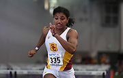 Feb 24, 2017; Seattle, WA, USA; Anna Cockrell of Southern California wins women's 60m heat in 8.13 during the MPSF Indoor Championships at the Dempsey Indoor.