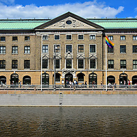 East India House in Gothenburg, Sweden<br /> The Swedish East India Company, which was a large shipping firm during most of the 18th century, commissioned prolific architect Bengt Wilhelm Carlberg to construct the East India House in 1747.  The left or east wing along Norra Hamngatan (North Harbour Street) was finished in 1750. It took another twelve years to complete the building that faces the Great Harbor Canal.  In 1861 Ostindiskahuset became a museum which, since 1993, has been called the Gothenburg City Museum.  G&ouml;teborgs Stadsmuseum contains Swedish historical exhibits dating back to the antiquity.